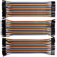 XINYUWIN 120pcs Multicolored Dupont Wire 40pin Male to Female, 40pin Male to Male, 40pin Female to Female Breadboard Jumper Wires Ribbon Cables Kit for arduino/DIY/ raspberry Pi 2 3