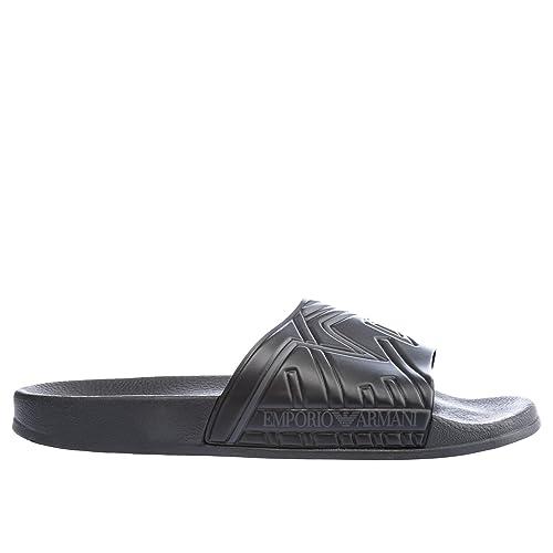 c0af5b322fc8 Emporio Armani Eagle Print Slide Sandals Black  Amazon.co.uk  Shoes   Bags
