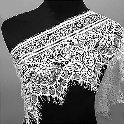 Amazoncom Sewing Lace Trim 3 Yards Eyelash Black And White Soft
