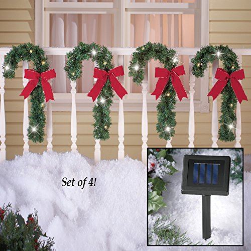 Candy Cane Christmas Solar Light Decorations