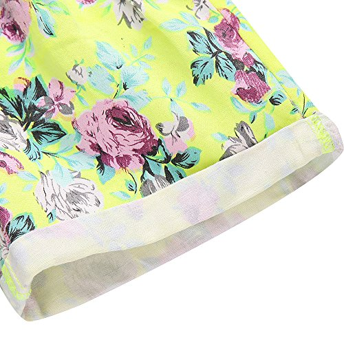 Richie House Little girl's Shorts with All over Floral Print RH1002-C-5/6 by Richie House (Image #5)