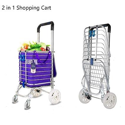 Amazon.com: Carro de la compra plegable AQWWHY, carro de la ...