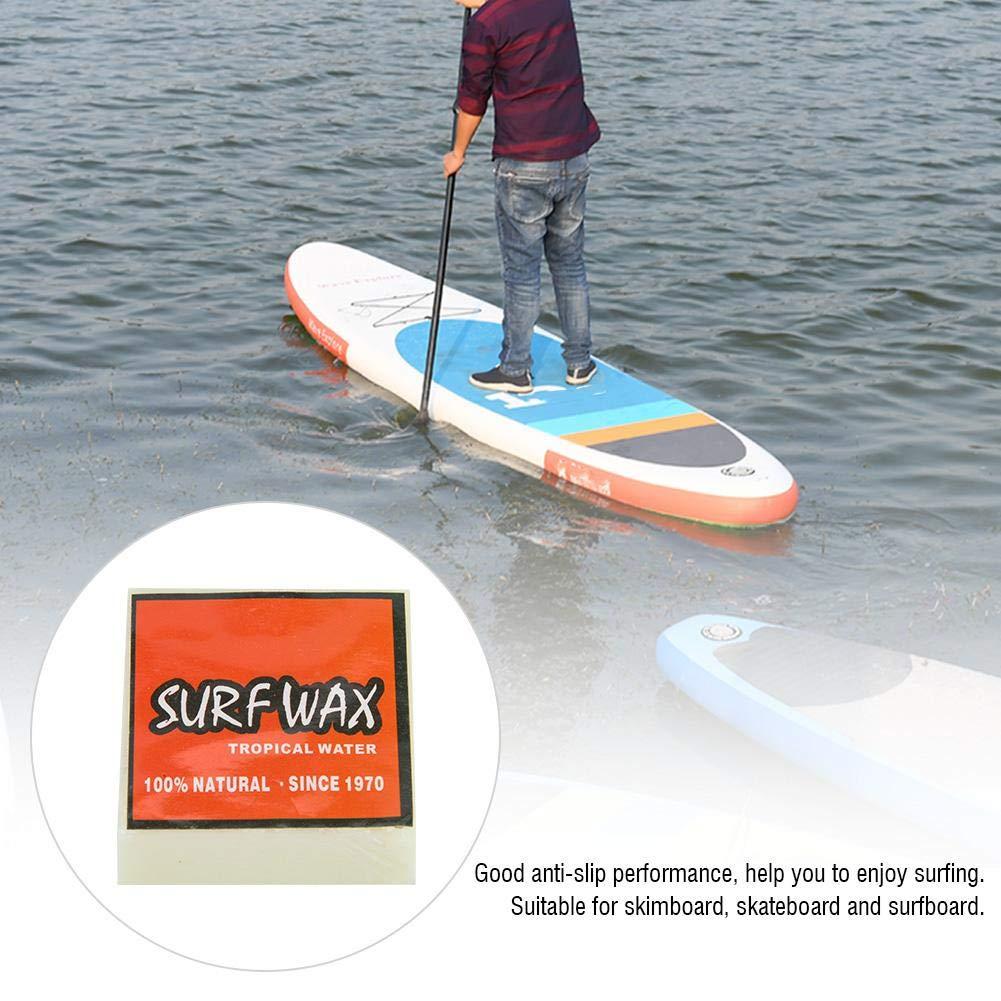 Alomejor Surf Wax Cires de Skateboard durables Cire de Surfboard Cire de Surf antid/érapante pour Cire de Surf de Skimboard