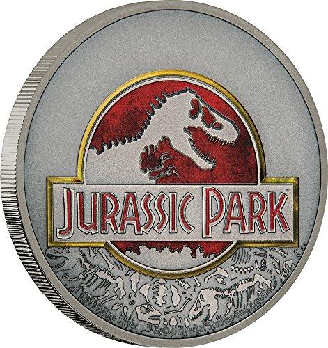 2018 NU Modern Commemorative JURASSIC PARK 25th Anniversary 1 Oz Silver Coin 2$ Niue 2018 Antique (Modern Commemorative Proof)