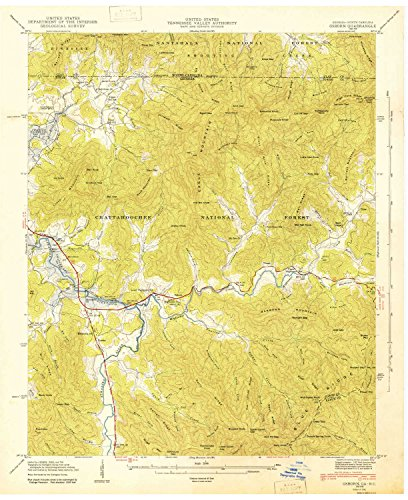 Osborn GA topo map, 1:24000 scale, 7.5 X 7.5 Minute, Historical, 1943, 26.9 x 22 IN - - Map Tower Bell Shops