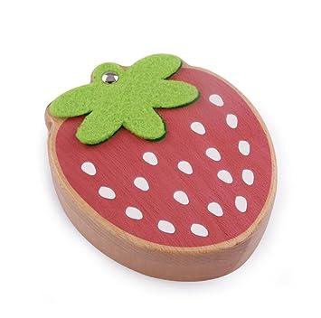 QJONKE Caja de Dientes de Madera de Fresas Caja de Recuerdos de Caja de Recuerdos: Amazon.es: Hogar