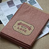 East Of India Paper Strung Bags 'Handmade With Love' X 40 Craft Shop / Stall
