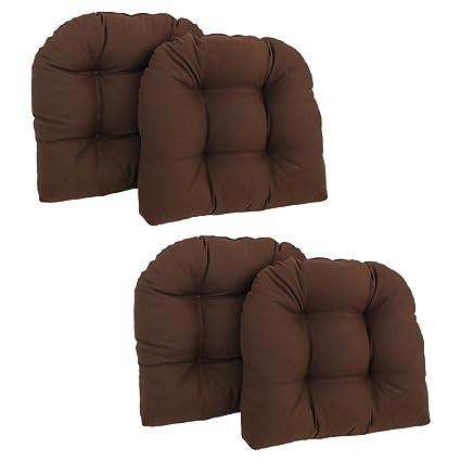 Beau Blazing Needles U Shaped Chair Cushion (Set Of 4)   Chocolate
