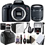 Canon EOS Rebel T7i 24.2MP Digital SLR Camera with 18-55mm EF-IS STM Lens , SF-4000 Slave Flash and Accessory Bundle