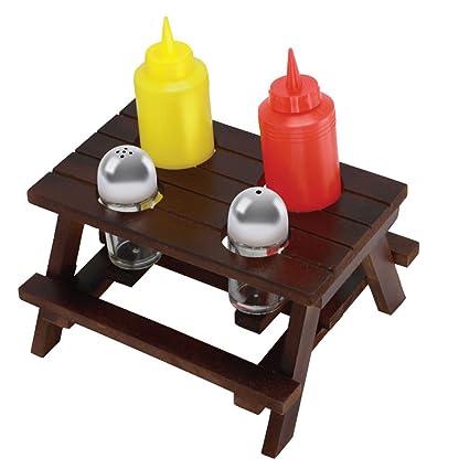 Amazoncom Picnic Table Condiment Holders Condiment Pots - Condiment holder for table