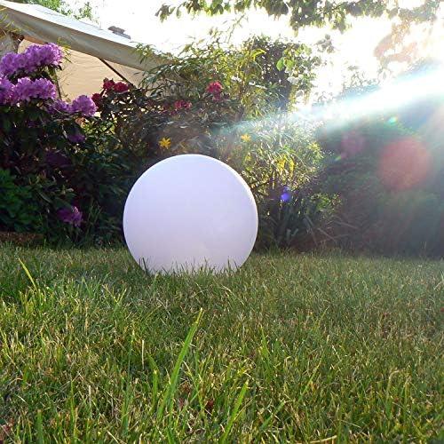 Kabellose 25cm LED Kugel-Leuchte Deko, Beleuchtung für Garten und Balkon, Kugellampe mit Farbwechsel und Fernbedienung – Gartenleuchte, Dekoleuchte - hängend & stehend verwendbar - wetterfest (IP54)