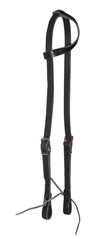 Black Hamilton Headstall with Flat Sliding Ear, 5 8-Inch, Black