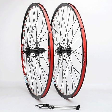MZPWJD Juego Ruedas Bicicleta 26 Pulgadas MTB Freno Disco Rueda Bicicleta Llantas Doble Pared QR Rodamiento Sellado para Cassette Hub 8-11 Velocidad 1850g: Amazon.es: Deportes y aire libre