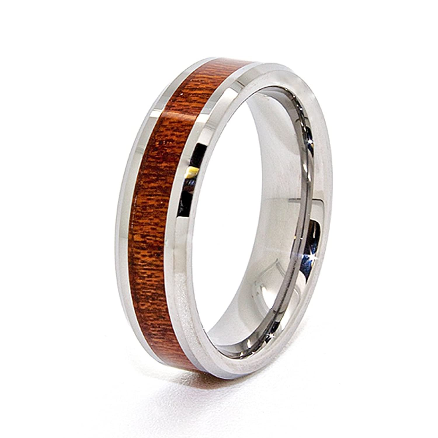 Unique 6mm Tungsten Carbide with Wood Inlay Wedding Band  Available in  Sizes 4 14    Amazon comUnique 6mm Tungsten Carbide with Wood Inlay Wedding Band  . Inlay Wedding Bands. Home Design Ideas
