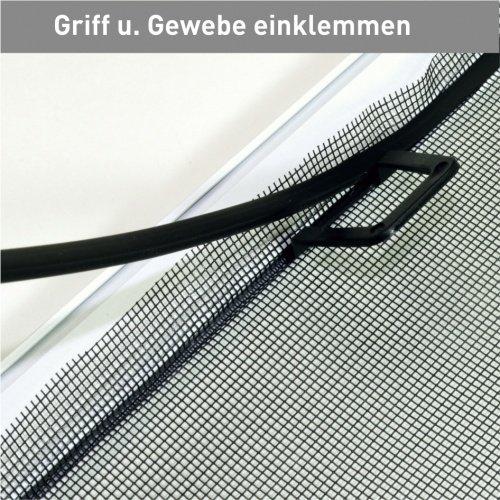 light Gr/ö/ße 80x120cm Insektenschutz Fenster Fliegengitter M/ückenschutz Profi Farbe wei/ß