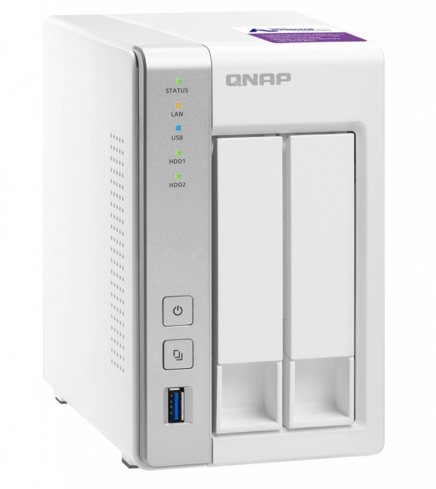 Qnap TS-231P-US Personal Cloud NAS with DLNA, mobile apps and Airplay support. ARM Cortex A15 1.7GHz Dual Core, 1GB RAM by QNAP