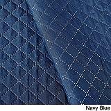 De Moocci Pinsonic Plaid & Checkered Design Coverlet Set, Twin, Navy