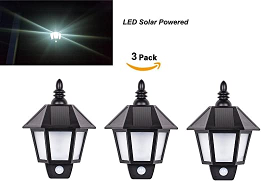 Lámpara De Pared Solar Del Jardín De La Pared   LED   Sensor De Movimiento Impermeable