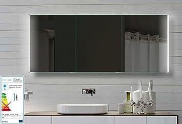 Fine Line Spiegelschrank 160x72cm Mit Led Beleuchtung Kalt Warm Weiss