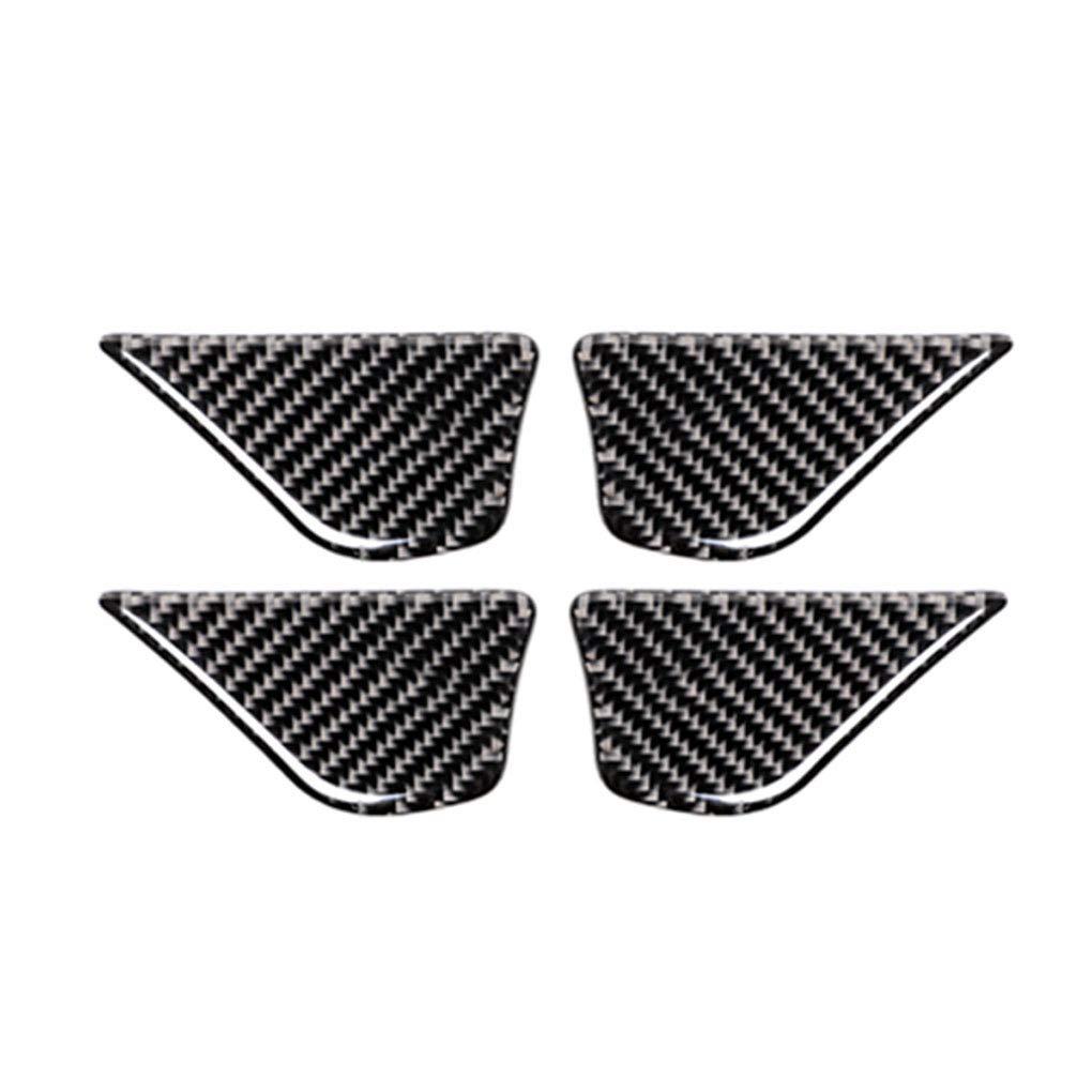 C180 GLC Ben-gi 1 Conjunto de Fibra de Carbono del Interior del Coche manija de la Puerta Pegatinas Bowl por Mercedes Clase C W205