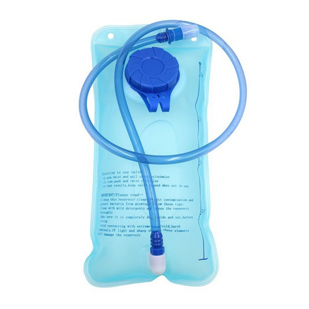 Hydration burbujas burbujas de agua bolsa para hidratación 2L Sin BPA, schmackneutral, antigoteo, apertura grande, fácil de limpiar y rellenar, 2L Blau Trinkblase SKL