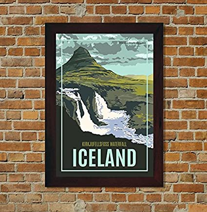 Amazon com: Little Blue Dog Designs Kirkjufellsfoss Iceland