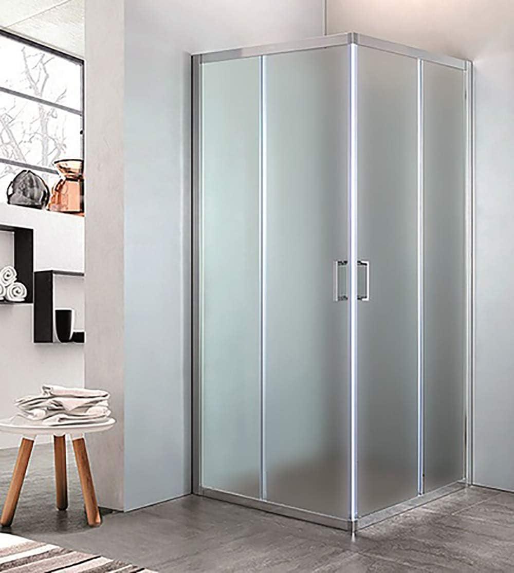 mampara de ducha con Ángulo de cristal Estampado C, tamaño CM.68 ...