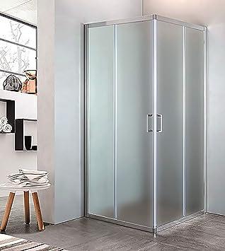 mampara de ducha con Ángulo de cristal Estampado C, tamaño CM.68/70 X 88/90, Cromado: Amazon.es: Bricolaje y herramientas