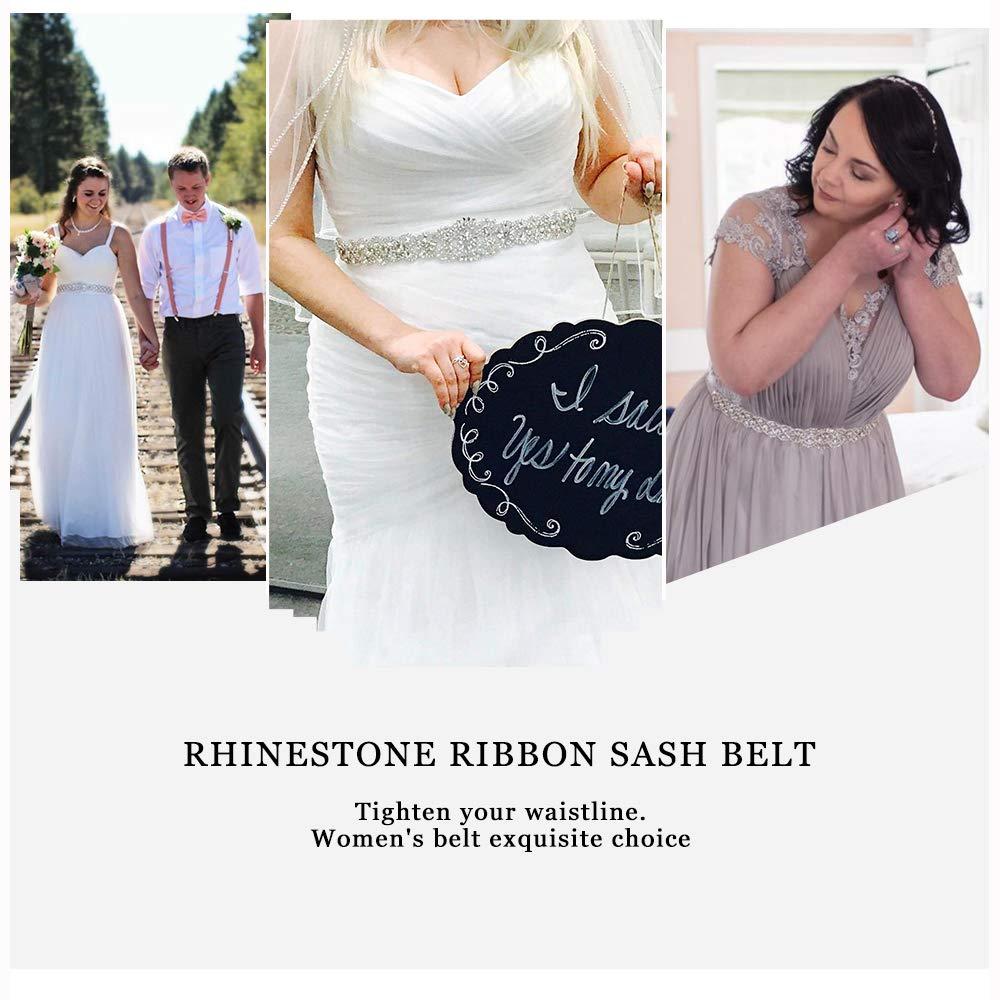 9ccad3112bff Amazon.com: Crystal Sashes for Wedding, Wedding Bridal Belt, Braided Rhinestone  Sash: Arts, Crafts & Sewing