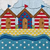Anchor Beach Huts Long Stitch Kit
