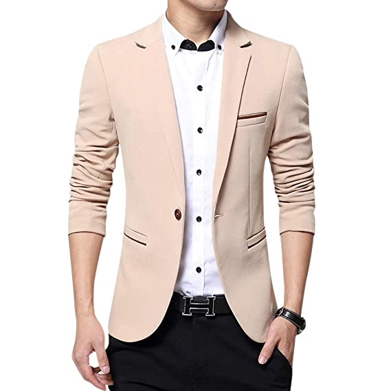 44c941aa32d0 KINDOYO Modern Casual Suits - Men Business Blazer Coat Tops Winter Slim Fit  Jacket at Amazon Men's Clothing store: