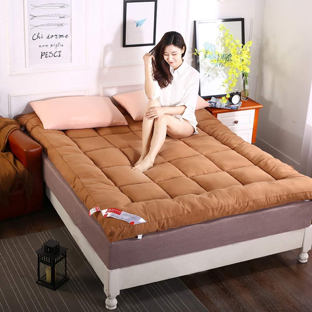 K 90x200cm(35x79inch) Feather Velvet Filling Sleeping Futon Tatami Mattress, Thicken Floor mat Pad Foldable Cushion mats Quilted Non-Slip Mattress Topper-G 120x200cm(47x79inch)