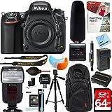 Nikon D750 24.3MP HD FX-Format Digital SLR Camera Body + Tascam DR-10SG Audio Recorder and Shotgun Microphone + 64GB Accessory Bundle