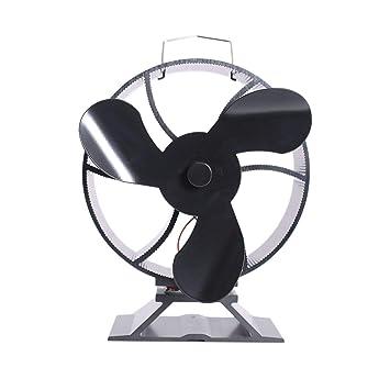 3-Blade Estufa de Calor Motores de gálibo del Ventilador de Madera del Registro del