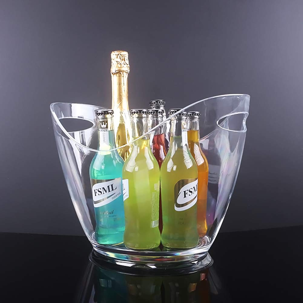 ANJING 8L Acrylic Ice Buckets with Handle,Clear,1 by ANJING