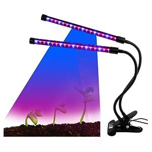 mg mulgore lampe pour vos plantes de puissance 12w aide faire pousser vos plantes double tube avec adaptateur secteur 2a inclus lampe dintrieur pour - Lampe Pour Faire Pousser