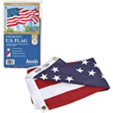 Annin American Flag 5x8 ft. Tough-Tex the Strongest, Longest Lasting Flag by Flagmakers, 100% Made in USA with Sewn Stripes, Embroidered Stars and Brass Grommets. Model 2730