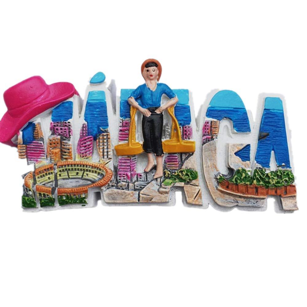 MUYU Magnet Málaga España 3D imán de Nevera de Viaje calcomanía de ...