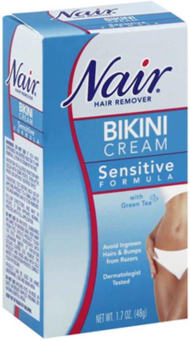 Nair Hair Remover Bikini Cream With Green Tea Sensitive Formula 1.70 oz (Pack of 10)