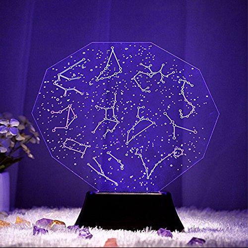 DADEQISH DADEQISH DADEQISH Kreative 3D stereoskopische visuelle personalisierte Dekoration LED Lampe Wohnzimmer Romantisches Geschenk Innenlicht (Farbe   A) B07NV8XVDB   Sofortige Lieferung  7dbdc1