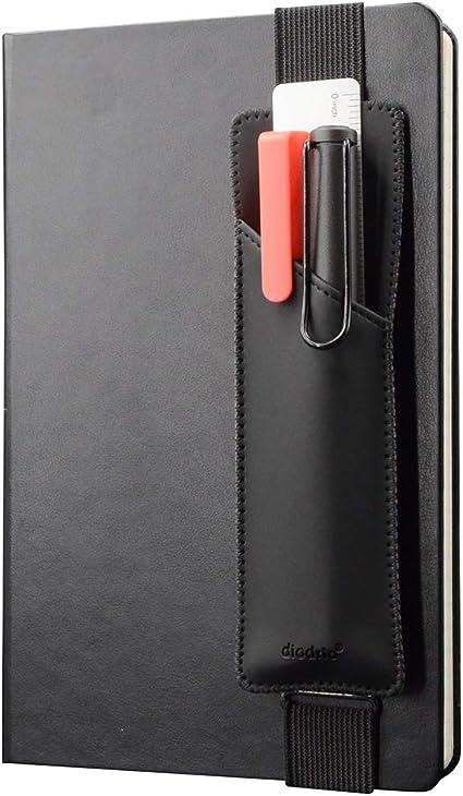 Soporte elástico ajustable para lápices, bolígrafos, funda para libros de tapa dura, cuadernos, planificadores, compatible con