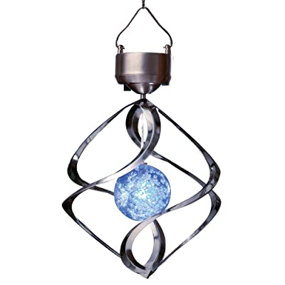 Bits and Pieces - Saturn Wind Spinner - Solar Powered Unique Lawn and Garden Ornament : Garden & Outdoor