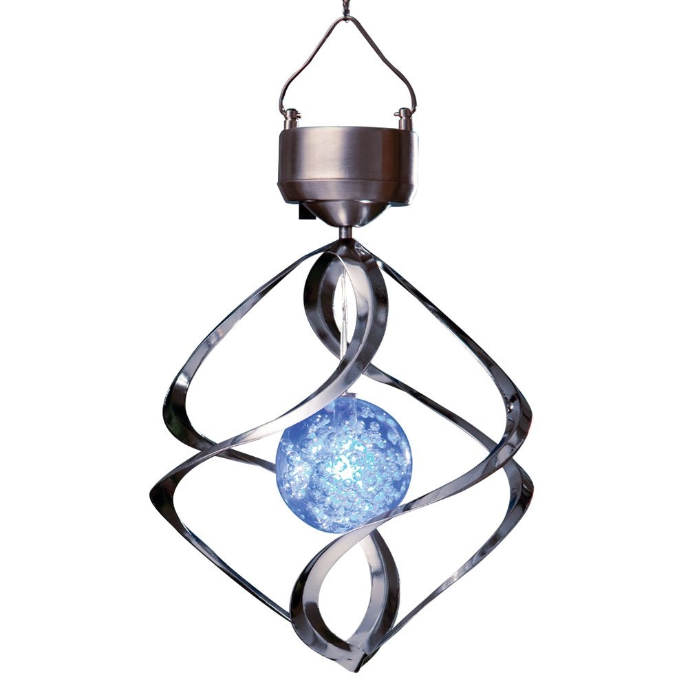 Bits and Pieces - Saturn Wind Spinner - Solar Powered Unique Lawn and Garden Ornament
