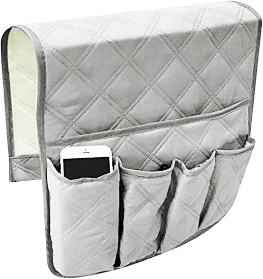 Waterproof Sofa Couch Chair Armrest Storage Organizer Antiskid Hanging Caddy Pocket TV Remote Control Holder Durable Space Saver Sofas Tidy Arm Rest Organiser for Phone Book Magazines iPad Tablet