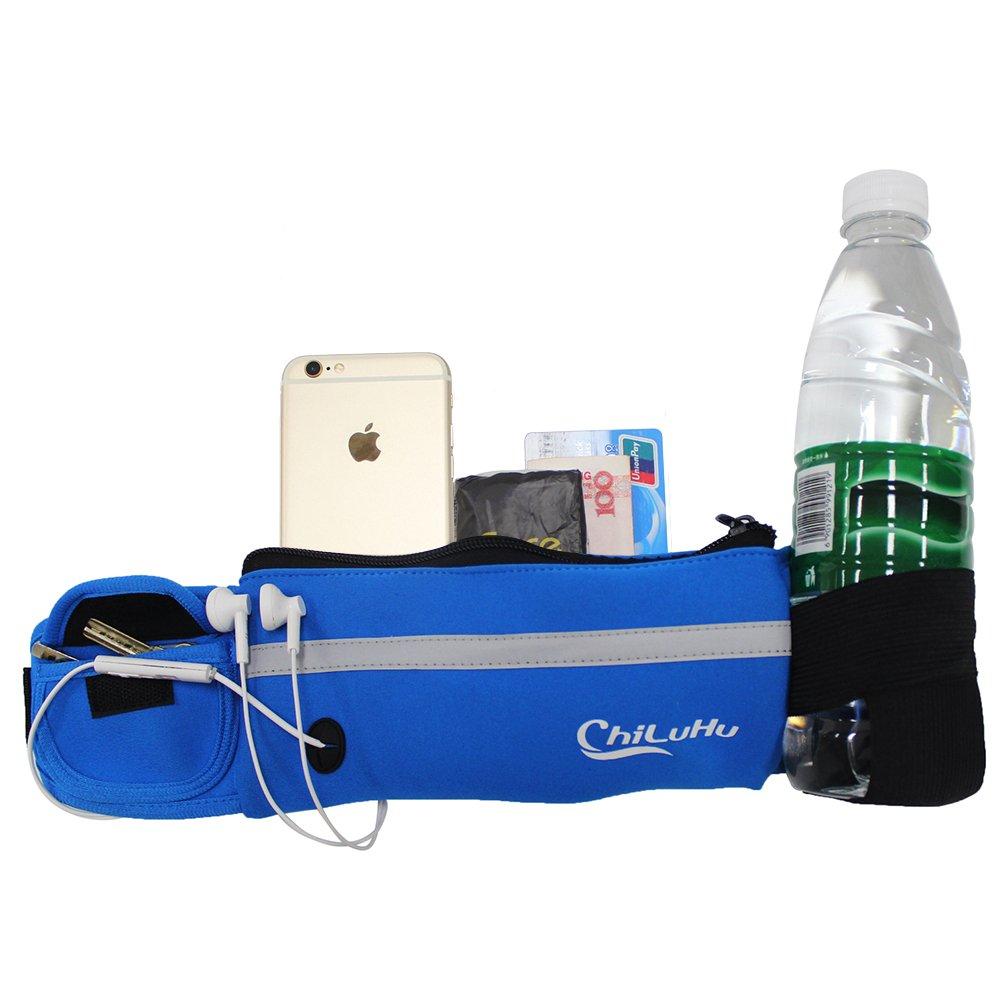 woson Deportes riñonera con soporte para botellas Resistente al agua sweatpr oof–Cinturón de hidratación con auriculares ocasión para teléfono móvil iPhone 7, 6s, 6Plus, 5, 5S/Samsung S7&nbs