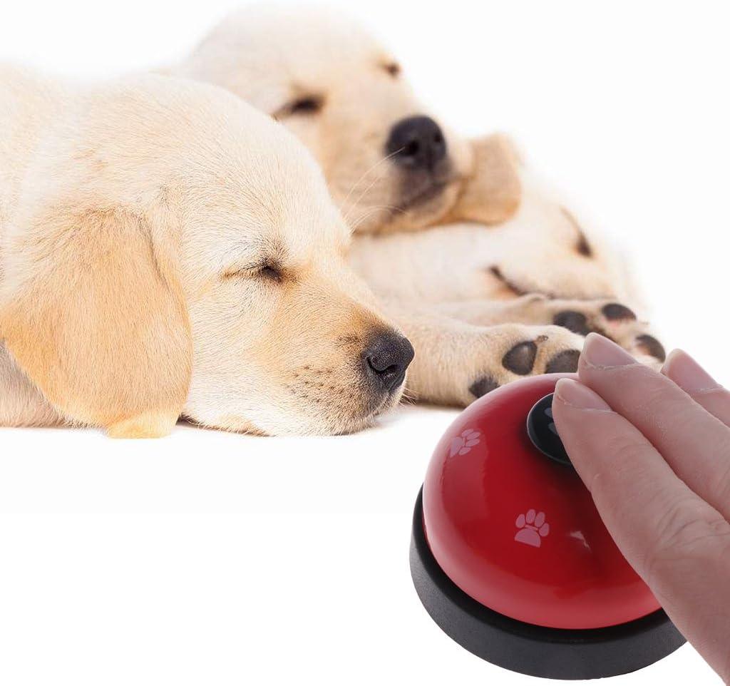 ECMQS Pet Spielzeug Training Genannt Abendessen Kleine Glocke Footprint-Ring-freies Hunde Spielzeug F/ür Teddy Puppy