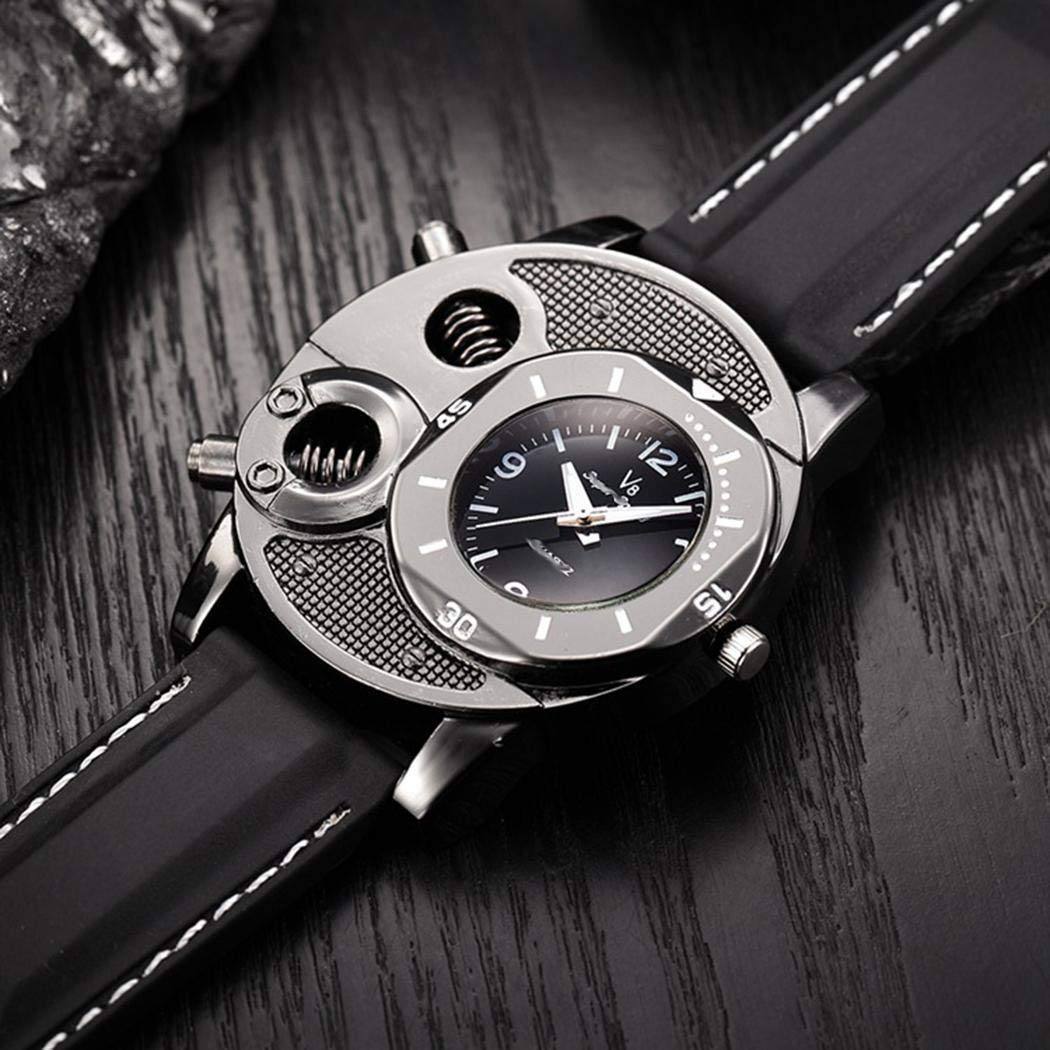 Uniqute Fashion Men Quartz Watch Casual Silicone Watch Wristwatch Smart Watches