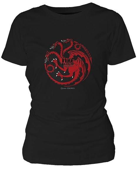Thrones Of Maglietta Game Shirt And T Maglia Targaryen Ladies Fire OZTPXwiku