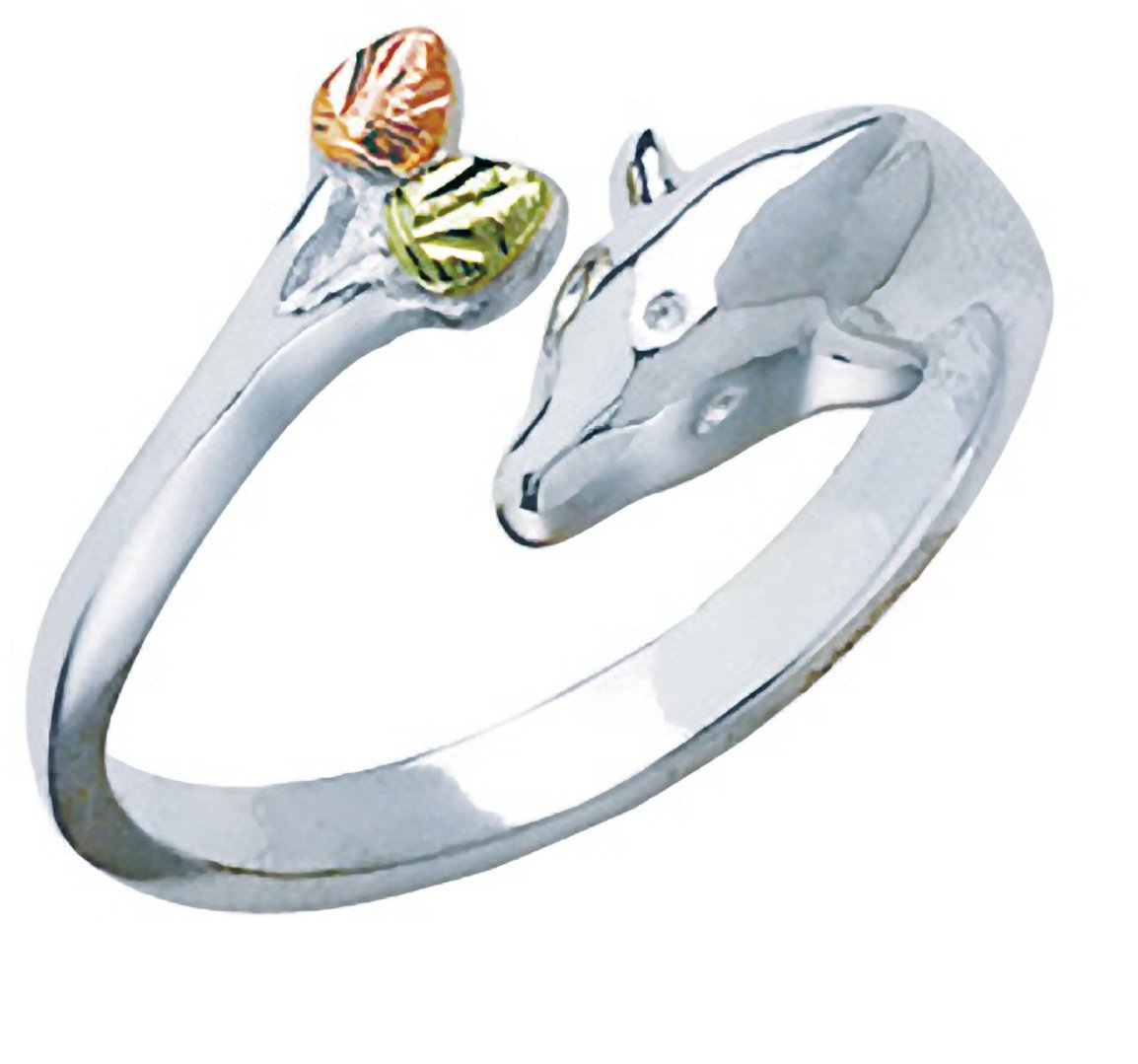 Black Hills Silver Toe Ring with Dolphin
