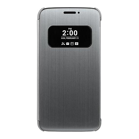 timeless design 2078c 4031f LG G5 Quick Cover Case CFV-160 Mesh Folio Case (SILVER): Amazon.in ...